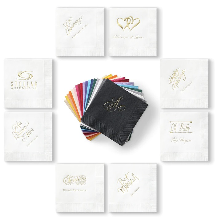 White Wedding Napkins